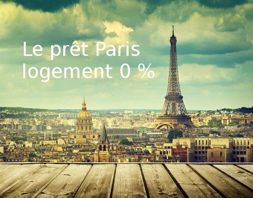 prêt Paris logement 0%